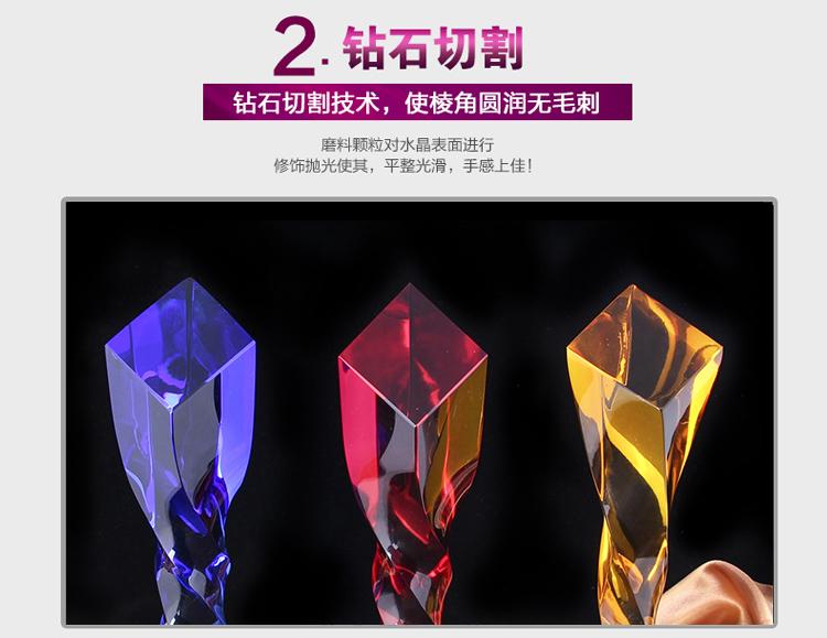 水晶工艺品制作:水晶奖杯的风采就是你的丰彩!(图4)